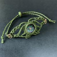 portalizer (ミニ方位磁石ブレスレット)  緑B