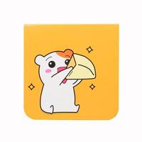 チーズ食べるでちゅ メモパッド (120*120) 【おるちゅばんエビちゅ】