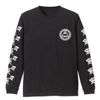 ポプテピピックDIE ロングスリーブTシャツ BLACK【COSPA】