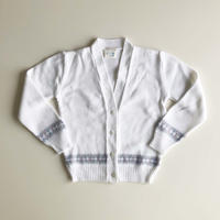 white knitting cardigan