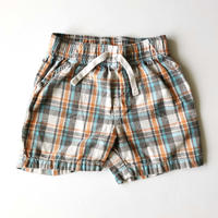 plaid pants _orange mix
