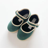Sciuscià BABY&KIDS shoes_GREEN VELVET