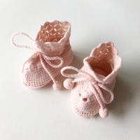 knit crochet booties