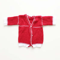 60s knitted cardigan_red