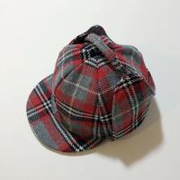 70s sherlock cap_red/grey