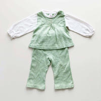 textile tops&pants outfit_lime green