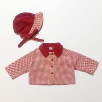 50s corduroy coat&bonnet set