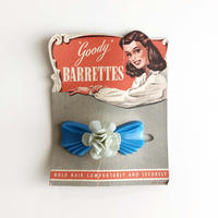50s flower ribbon hair clip (dead stock)  _sky