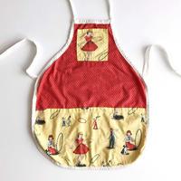 50's textile apron