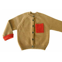 NAMUUU_BOUCLE POCKET CARDIGAN(Camel/Grey)