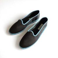 Sciuscià MENS shoes SAMPLE_BLACK×TURQUOISE