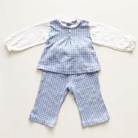 textile tops&pants outfit_lavender blue