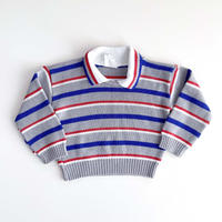 stripe knitting tops