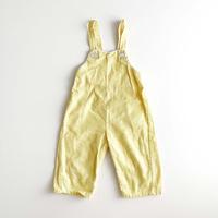 lemon corduroy overalls
