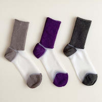 MARCOMONDE LADYS_see-through×wool socks