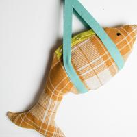 LIGNE NOIRE ENFANTS_ FISH BAG (Gold Beige/Water)