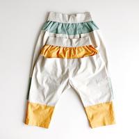 NAMUUU_KANGAROO POCKET PANTS(HAWAIIAN ORANGE/APPLE GREEN)