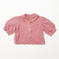 60s plaid blouse