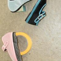 Sciuscià KIDS shoes SAMPLE_SEA GLASS/PINK CHAMPAGNE/PINK×NEON ORANGE/BLACK×TURQUOISE