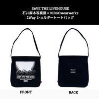 SAVE THE LIVEHOUSE 石井麻木写真展 × VIRGOwearworks 2Way ショルダートートバッグ