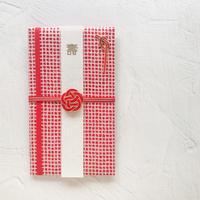 和紙かさねご祝儀袋 格子(赤)