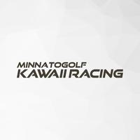 カッティングステッカー「KAWAII RACING」Mサイズ(中)  マットブラック