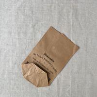 【フランス】ヴィンテージ紙袋/底マチ/筋入りハトロン/18×13