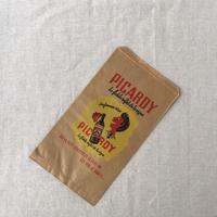 【フランス】ヴィンテージ紙袋/サイドマチ/筋ありクラフト/PICARDY