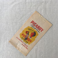 【フランス】ヴィンテージ紙袋/サイドマチ/筋なし/PICARDY