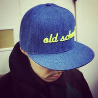"""old school""  Denim Baseball Cap"