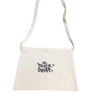 OSAKA ROOTS サコッシュ 02 ナチュラル・シルバーラメ刺繍