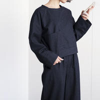 raglan sleeve  pocket pullover (cr-20205)