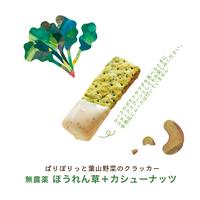 VEGICRA 葉山 野菜のクラッカー(ほうれん草+カシューナッツ)