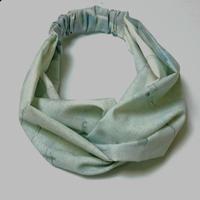 【web限定】オリジナルプリントのヘアバンド  3ws-006 A.blue