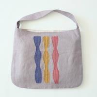 linen embroidery bag/micä