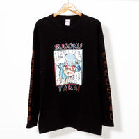 42×Hamburger chan - SUGOKU TAKAI / Long Sleeve T-shirt(BLK)