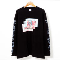 42×Hamburger chan - DOKIBAKU / Long Sleeve T-shirt(BLK)