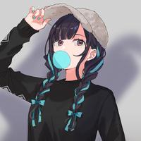 """42×花鋏キョウ """"鋏"""" Long Sleeve shirts(BLK)"""