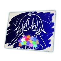 【星を集める少女】(北上双葉)[キャンバスアート]