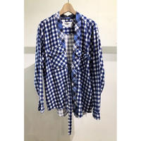 "OLDPARK  /  ""HAORI"" Shirt #Blue / size:Free"