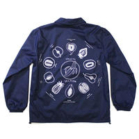 "SHUNTAROU TAKEUCHI × RYUHEI KOBOSHI / ""Fruits"" Coach jacket - navy"