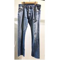 "OLDPARK  /  Slit Jeans  #Blue ""A"" / size:M"