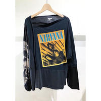 OLDPARK  / Patch work  L/S Tee #Rock(NIRVANA) / size:L