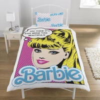 UK直輸入★バービーファンは必見★ Barbie☆バービーの布団カバー&枕カバーセット(シングル)/ベッドシーツ アメコミ ポップ duvet 掛け布団カバー