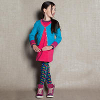 Mim-Pi (ミンピ)のターコイズブルーのバイカラーカーディガン blue cardigan