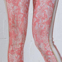 4U_PARISAMSTERDAM 【レギンス JACQUARD FLOWER】Pink/White
