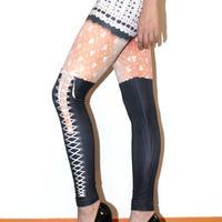4U_PARISAMSTERDAM 【レギンス LEACY SHORT PANTS】Whit/Black
