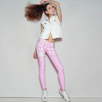 4U_PARISAMSTERDAM 【レギンス GINGHAM CHECK】Pink/White