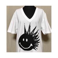 PUNK SMILE  オーガニックコットンVネックTシャツ