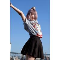 DJ後藤まりこ三角Tシャツ【Gray】